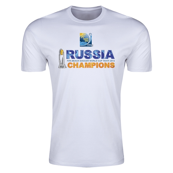 Russia FIFA Beach World Cup 2013 Winners Men's Premium T-Shirt (White)