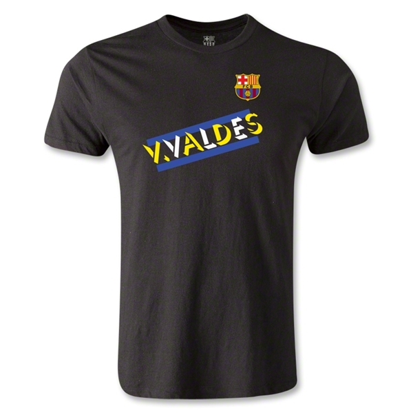 Barcelona V. Valdes Men's Fashion T-Shirt (Black)