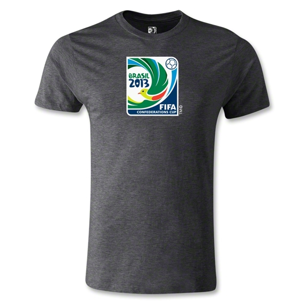 FIFA Confederations Cup 2013 Men's Fashion Emblem T-Shirt (Dark Gray)