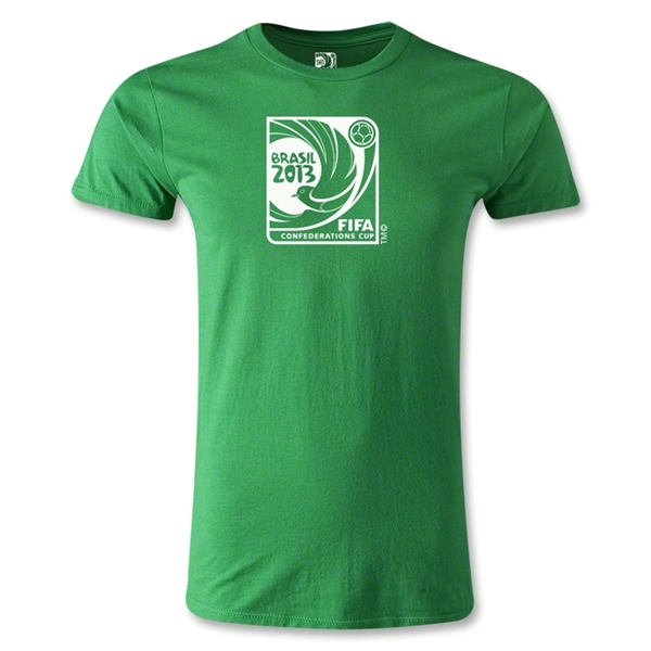 FIFA Confederations Cup 2013 Men's Fashion Emblem T-Shirt (Green)