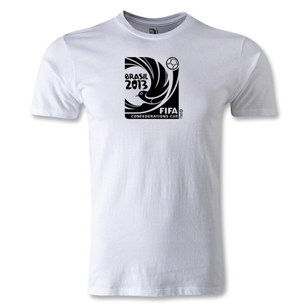 FIFA Confederations Cup 2013 Men's Fashion Emblem T-Shirt (White)