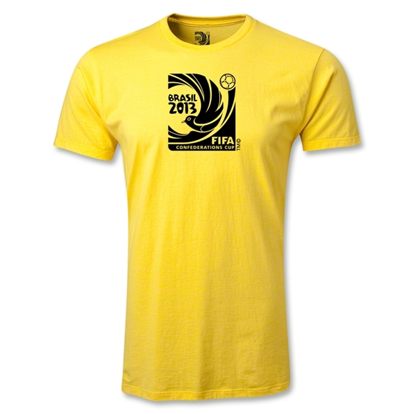 FIFA Confederations Cup 2013 Men's Fashion Emblem T-Shirt (Yellow)
