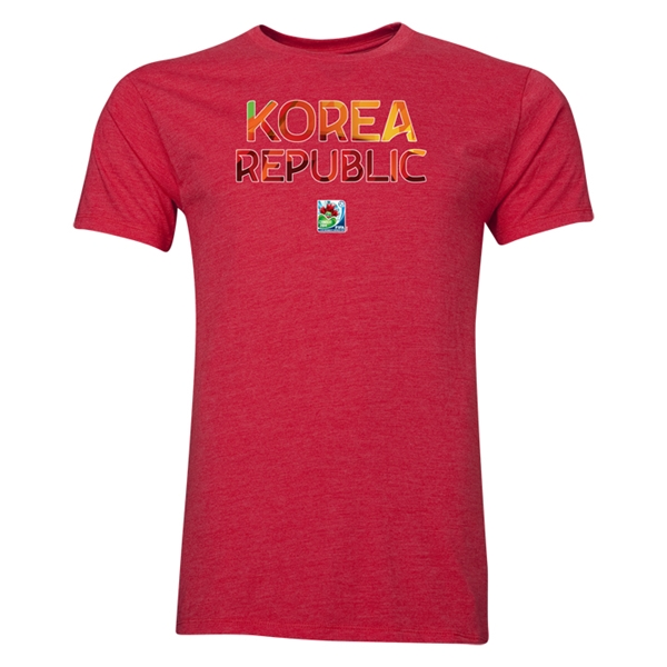 Korea Republic FIFA U-20 Women's World Cup Canada 2014 Men's Core T-Shirt (Heather Red)