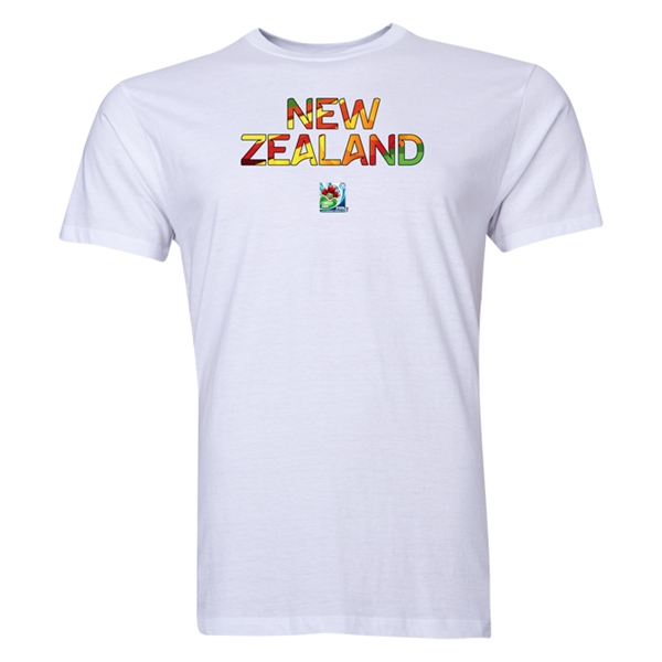 New Zealand FIFA U-20 Women's World Cup Canada 2014 Men's Core T-Shirt (White)