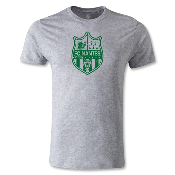 FC Nantes Distressed Crest Men's Fashion T-Shirt (Gray)