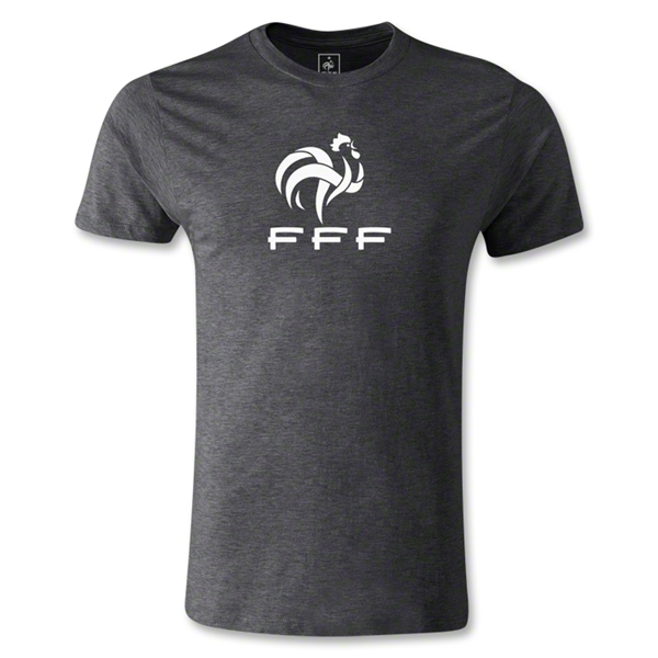 France FFF Men's Fashion T-Shirt (Dark Gray)