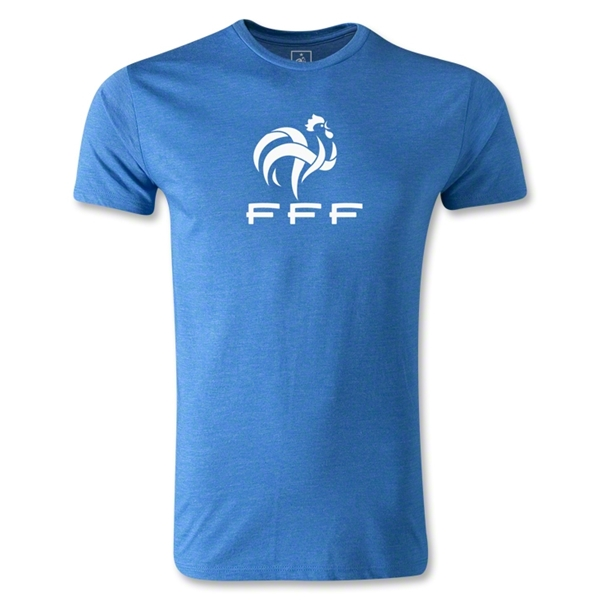 France FFF Men's Fashion T-Shirt (Heather Royal)