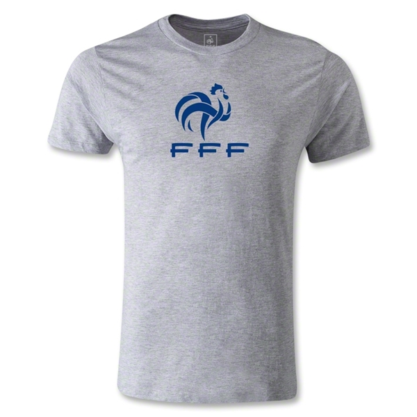 France FFF Men's Fashion T-Shirt (Gray)