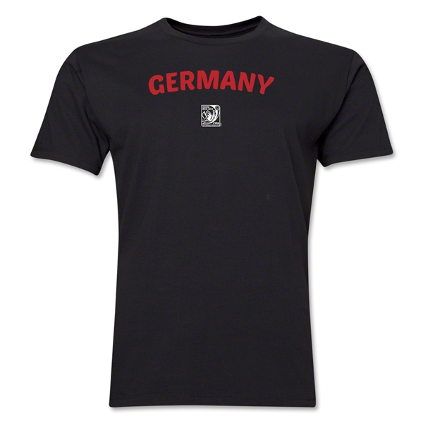 Germany FIFA U-17 Women's World Cup Costa Rica 2014 Men's Core T-Shirt (Black)