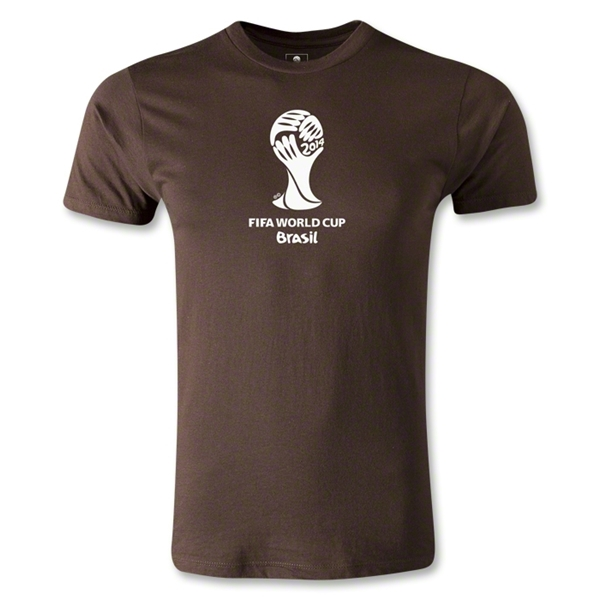2014 FIFA World Cup Brazil(TM) Men's Premium Event Emblem T-Shirt (Brown)
