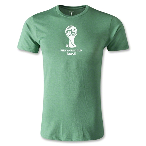 2014 FIFA World Cup Brazil(TM) Men's Fashion Emblem T-Shirt (Heather Green)