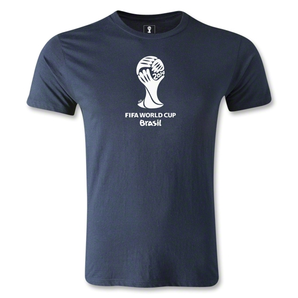 2014 FIFA World Cup Brazil(TM) Men's Fashion Emblem T-Shirt (Navy)
