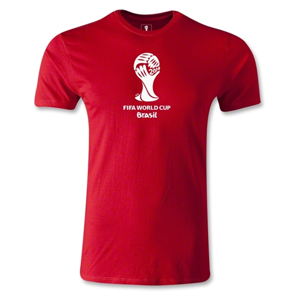 2014 FIFA World Cup Brazil(TM) Men's Fashion Emblem T-Shirt (Red)
