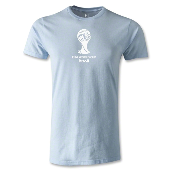 2014 FIFA World Cup Brazil(TM) Men's Premium Emblem T-Shirt (Sky Blue)