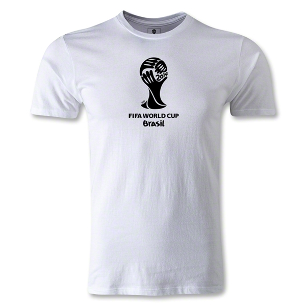 2014 FIFA World Cup Brazil(TM) Men's Fashion Emblem T-Shirt (White)