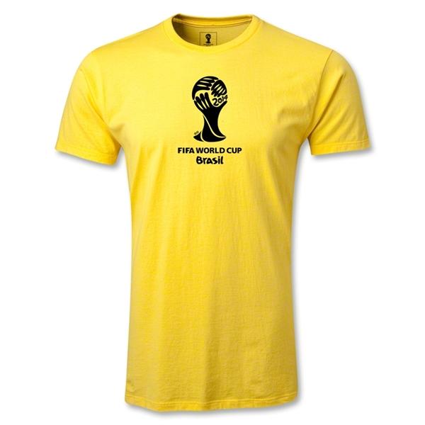 2014 FIFA World Cup Brazil(TM) Men's Premium Emblem T-Shirt (Yellow)