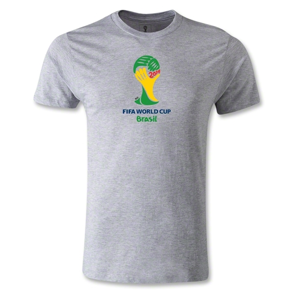 2014 FIFA World Cup Brazil(TM) Emblem Men's Fashion T-Shirt (Gray)
