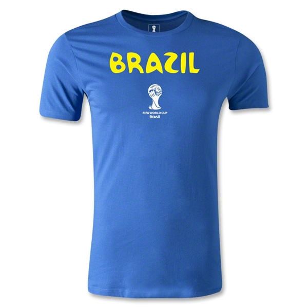 Brazil 2014 FIFA World Cup Brazil(TM) Core Men's Premium T-Shirt (Royal)