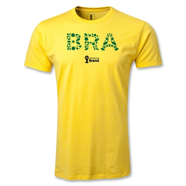 Brazil 2014 FIFA World Cup Brazil(TM) Core Men's Premium T-Shirt (Yellow)