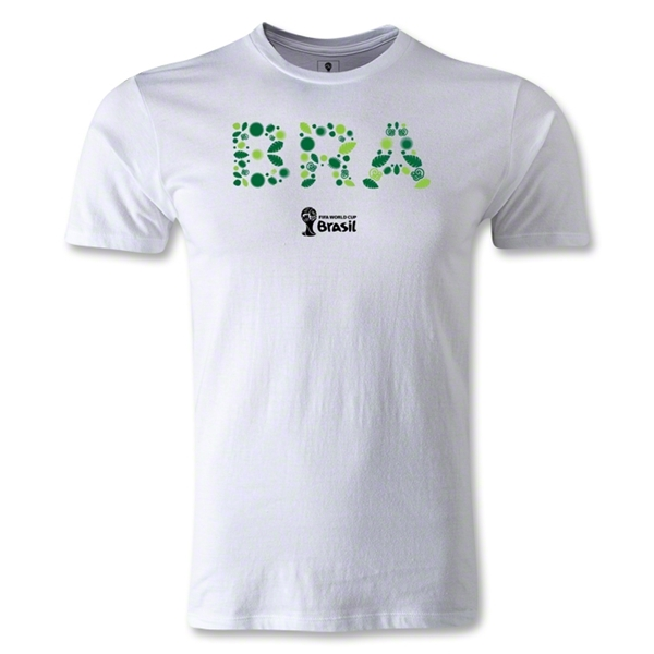 Brazil 2014 FIFA World Cup Brazil(TM) Elements Men's Premium T-Shirt (White)