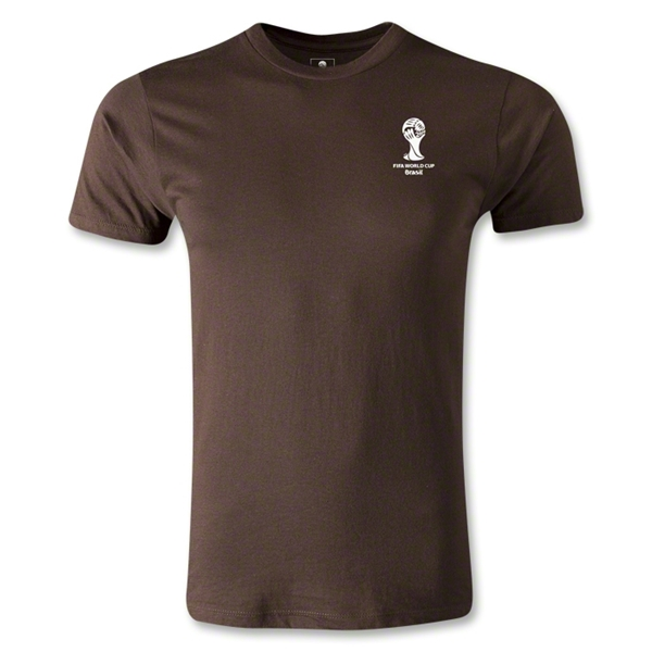 2014 FIFA World Cup Brazil(TM) Men's Emblem Premium T-Shirt (Brown)