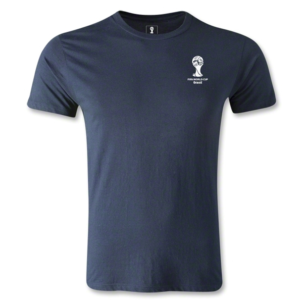 2014 FIFA World Cup Brazil(TM) Men's Emblem Premium T-Shirt (Navy)