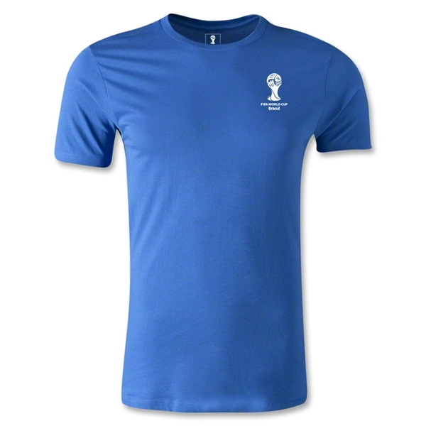 2014 FIFA World Cup Brazil(TM) Men's Emblem Fashion T-Shirt (Royal)