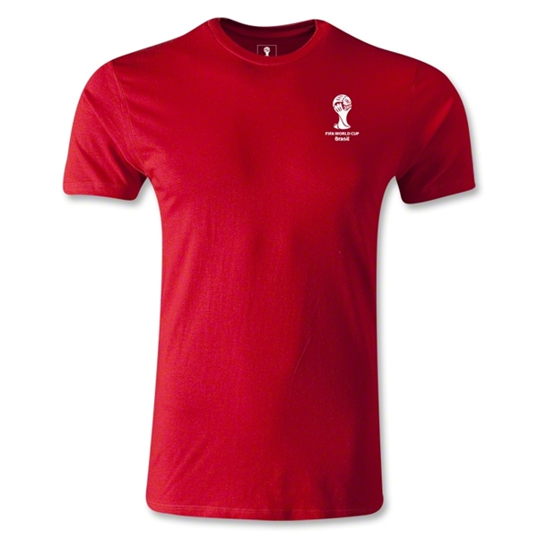 2014 FIFA World Cup Brazil(TM) Men's Emblem Fashion T-Shirt (Red)