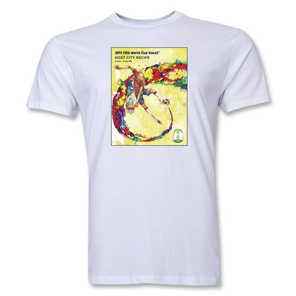 Recife 2014 FIFA World Cup Brazil(TM) Men's Premium Host City T-Shirt (White)
