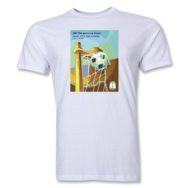 Salvador 2014 FIFA World Cup Brazil(TM) Men's Premium Host City T-Shirt (White)