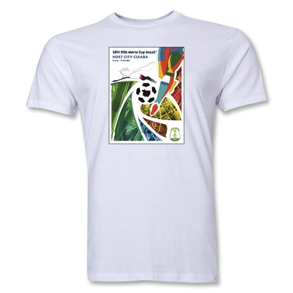 Cuiaba 2014 FIFA World Cup Brazil(TM) Men's Premium Host City T-Shirt (White)
