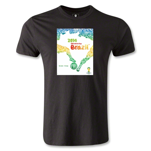2014 FIFA World Cup Brazil(TM) Men's Premium Official Event Poster T-Shirt (Black)