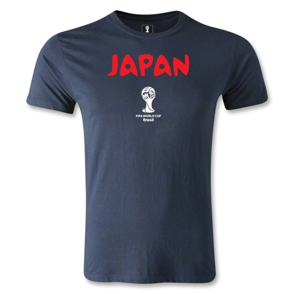Japan 2014 FIFA World Cup Brazil(TM) Men's Core Fashion T-Shirt (Navy)