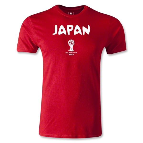 Japan 2014 FIFA World Cup Brazil(TM) Men's Core Fashion T-Shirt (Red)
