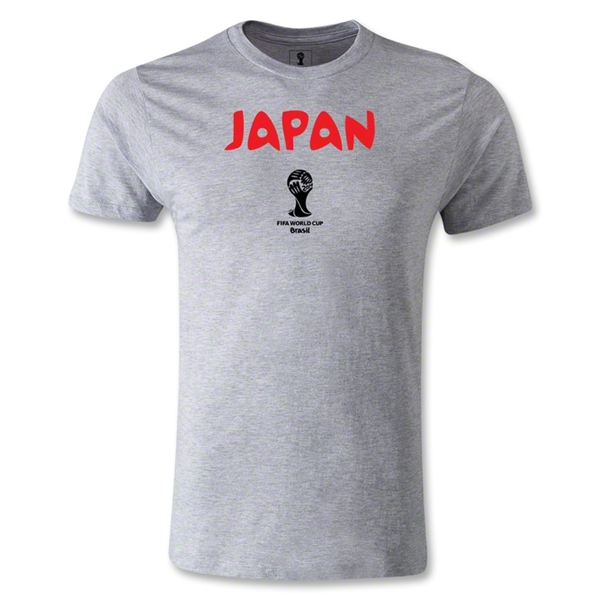 Japan 2014 FIFA World Cup Brazil(TM) Men's Core Fashion T-Shirt (Gray)