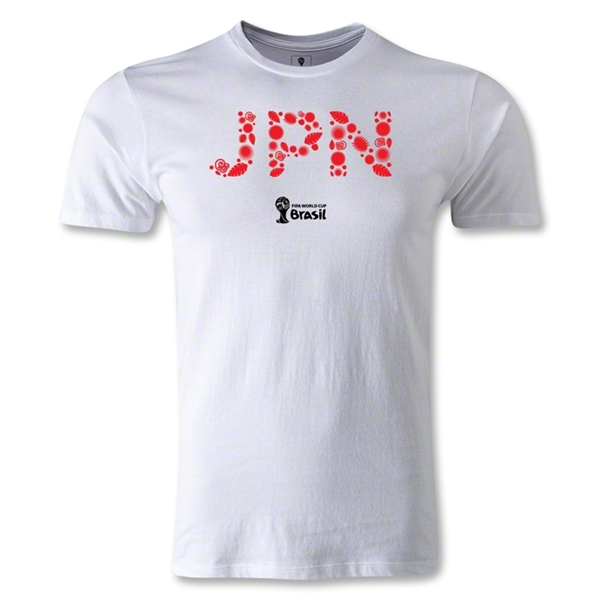 Japan 2014 FIFA World Cup Brazil(TM) Men's Fashion T-Shirt (White)
