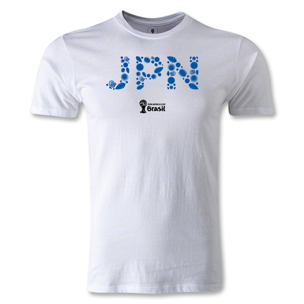 Japan 2014 FIFA World Cup Brazil(TM) Men's Premium Core T-Shirt (White)