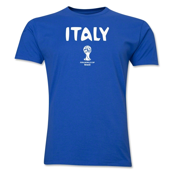 Italy 2014 FIFA World Cup Brazil(TM) Men's Premium T-Shirt (Royal)