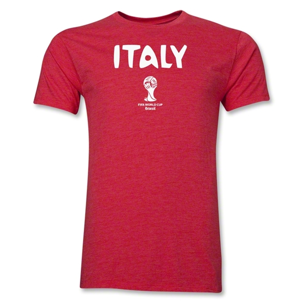 Italy 2014 FIFA World Cup Brazil(TM) Men's Premium T-Shirt (Heather Red)