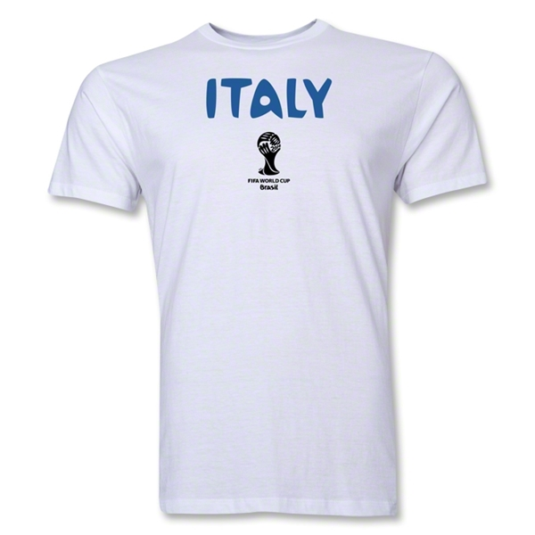 Italy 2014 FIFA World Cup Brazil(TM) Men's Premium Core T-Shirt (White)