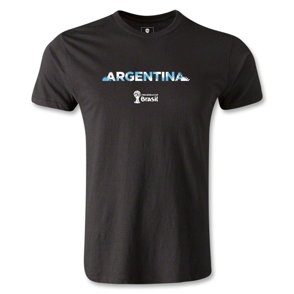 Argentina 2014 FIFA World Cup Brazil(TM) Men's Premium Palm T-Shirt (Black)