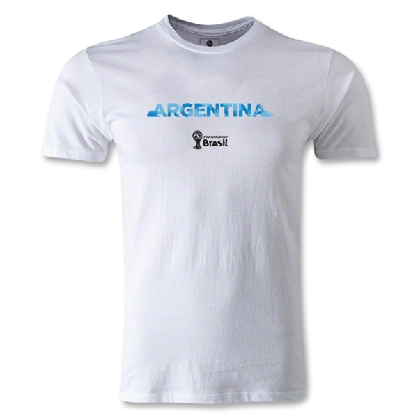 Argentina 2014 FIFA World Cup Brazil(TM) Men's Premium Palm T-Shirt (White)