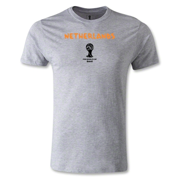 Netherlands 2014 FIFA World Cup Brazil(TM) Men's Premium Core T-Shirt (Grey)