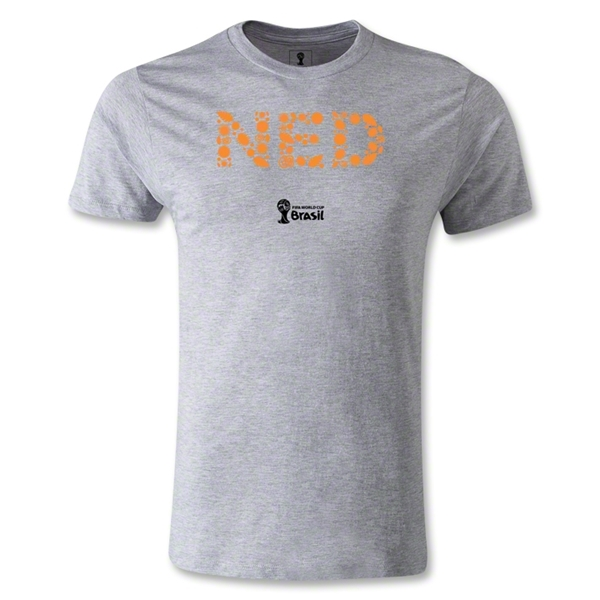 Netherlands 2014 FIFA World Cup Brazil(TM) Men's Premium Elements T-Shirt (Grey)