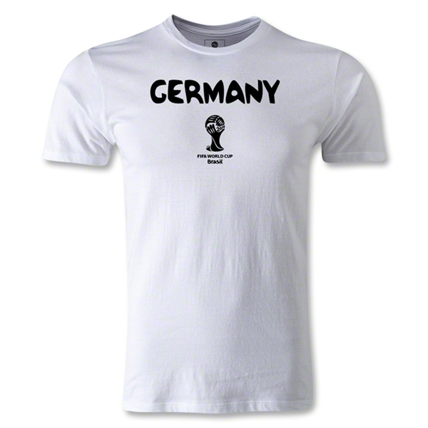 Germany 2014 FIFA World Cup Brazil(TM) Men's Premium Core T-Shirt (White)