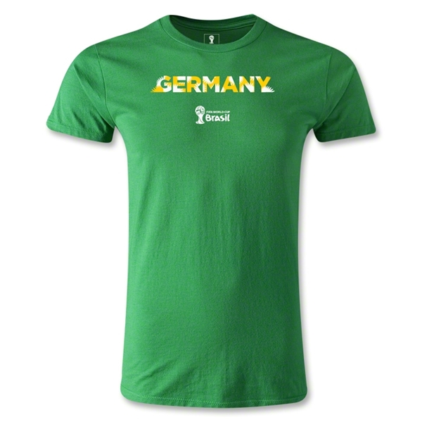Germany 2014 FIFA World Cup Brazil(TM) Men's Premium Palm T-Shirt (Green)