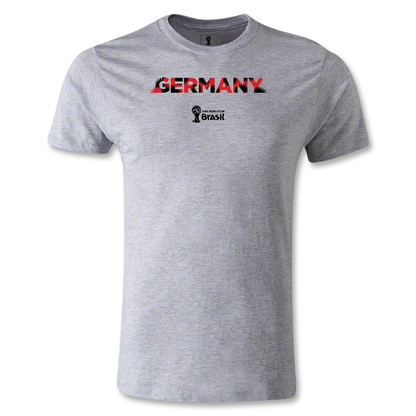 Germany 2014 FIFA World Cup Brazil(TM) Men's Premium Palm T-Shirt (Grey)