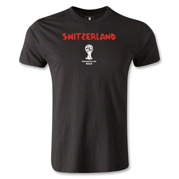 Switzerland 2014 FIFA World Cup Brazil(TM) Men's Premium Core T-Shirt (Black)