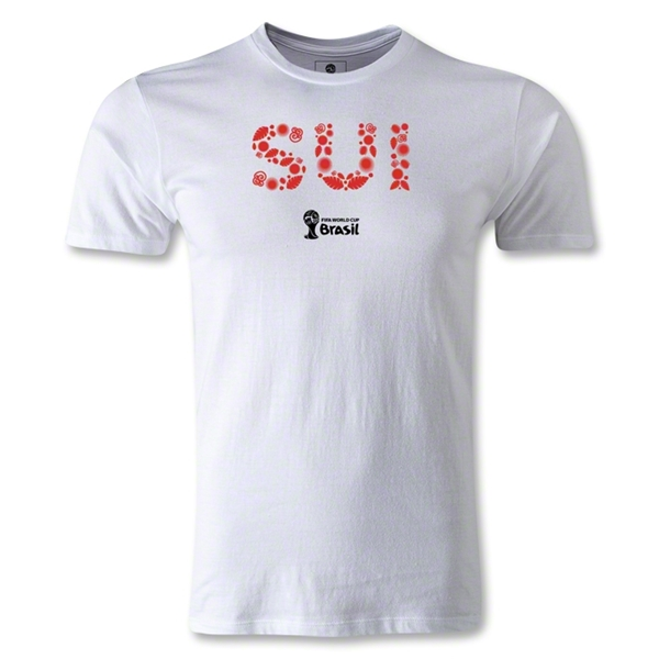 Switzerland 2014 FIFA World Cup Brazil(TM) Men's Premium Elements T-Shirt (White)