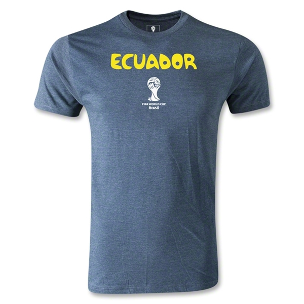 Ecuador 2014 FIFA World Cup Brazil(TM) Men's Premium Core T-Shirt (Blue)